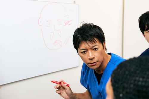 竹江先生タッチアップ